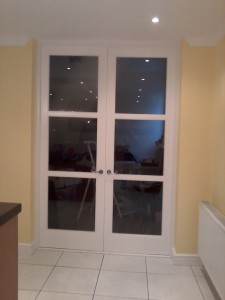 Double doors sapele