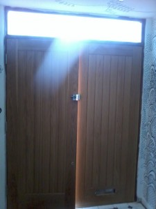 Oak door inside
