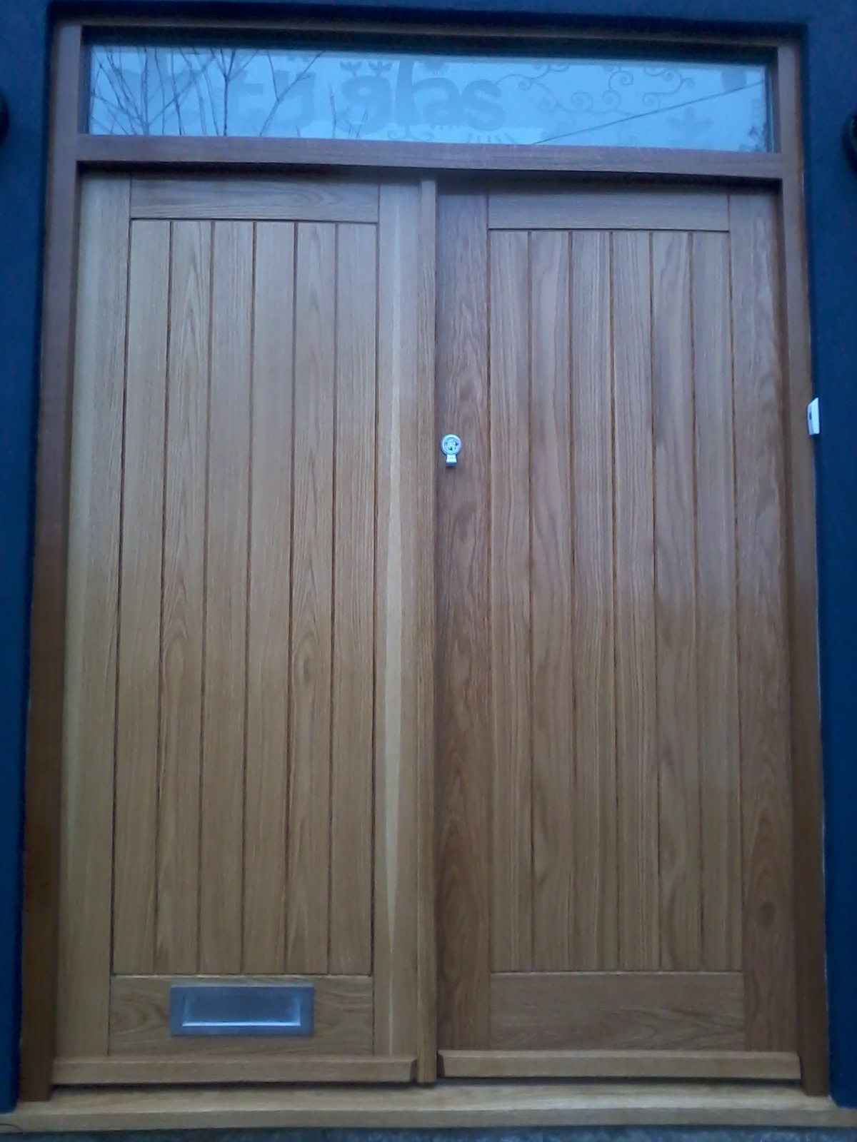 Bespoke oak double front doors bartlett joinery and for New double front doors