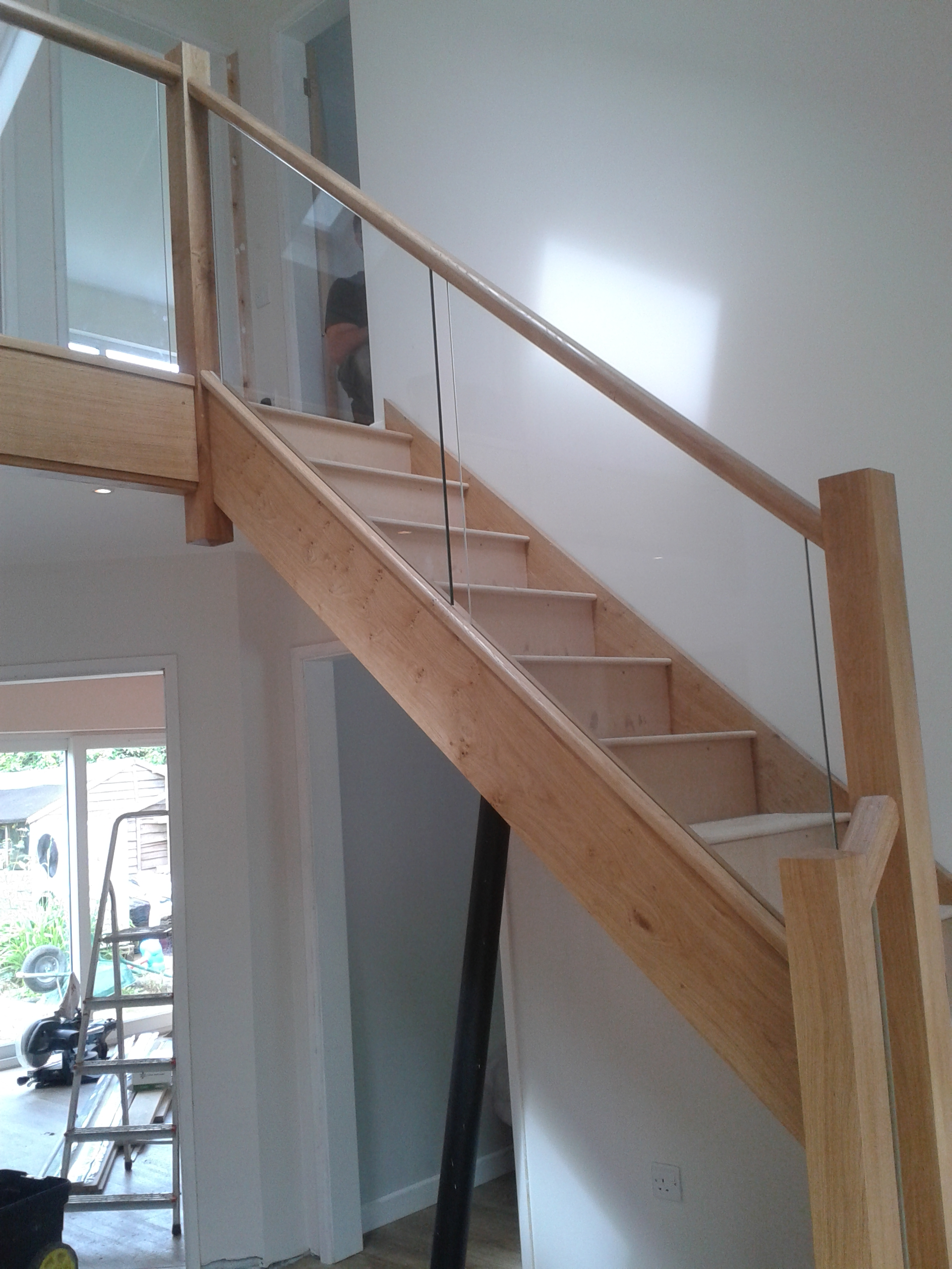 Oak Winder Glass Balustrade Bartlett Joinery And Carpentry