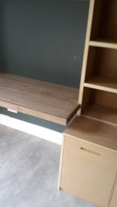 Built in unit with walnut desk 1