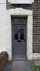 Front door and frame