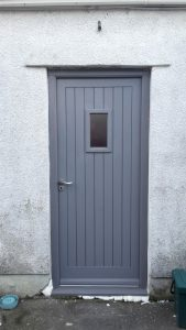 Grey back door