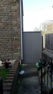 Grey side gate