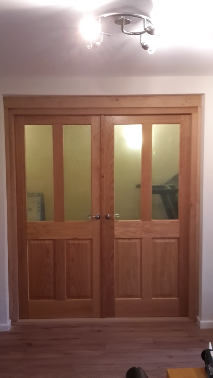 Oak double doors and frame 1 ... & Oak double doors and frame - Bartlett Joinery And Carpentry