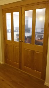 Oak double doors and frame 2