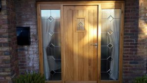 Oak front door and frame