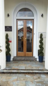 Oak front door for Hotel 2