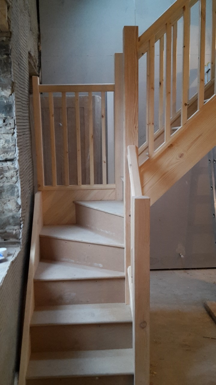 Softwood Winder Staircase Bartlett Joinery And Carpentry