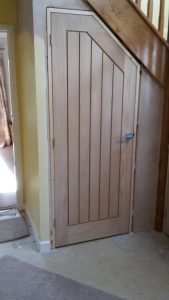 Angled internal oak door