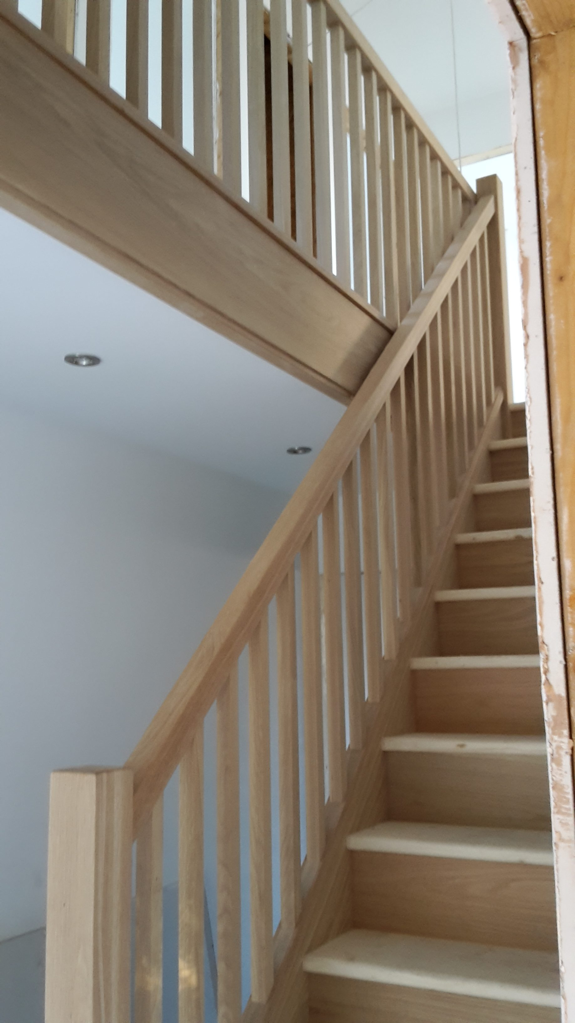 Oak Staircase With Stop Champher Spindles Bartlett
